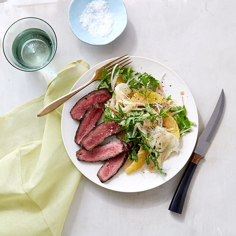 Photo of Grilled Sirloin Steak with Orange & Fennel Salad by WW