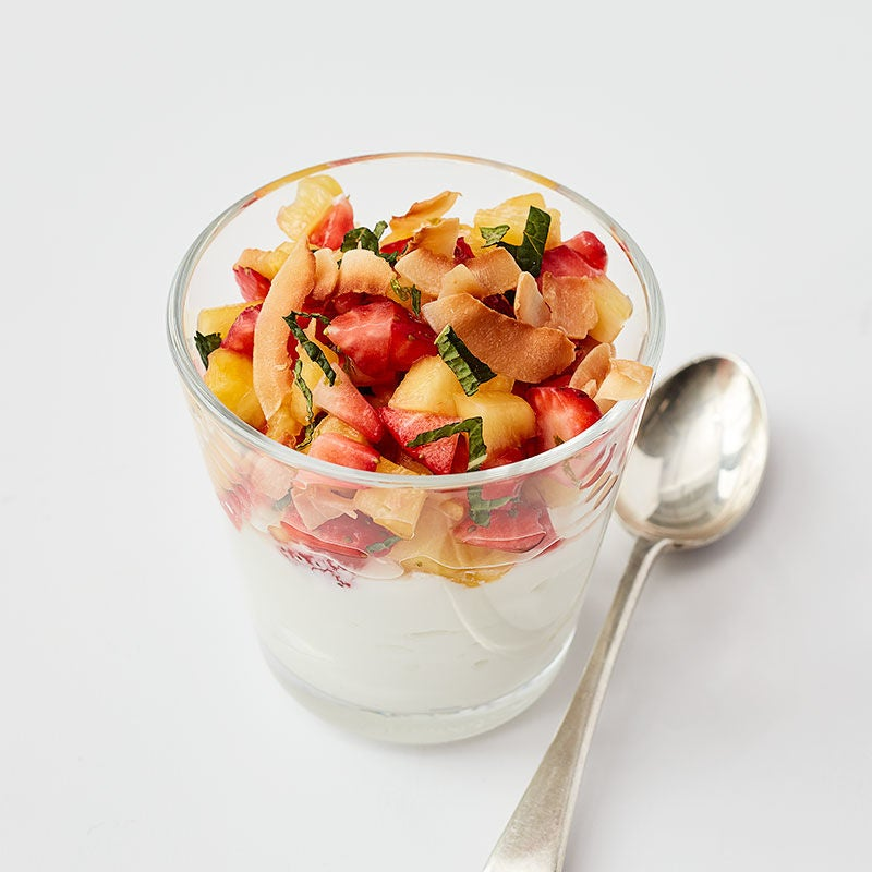 Photo of Sweet pineapple and strawberry salsa with yogurt by WW