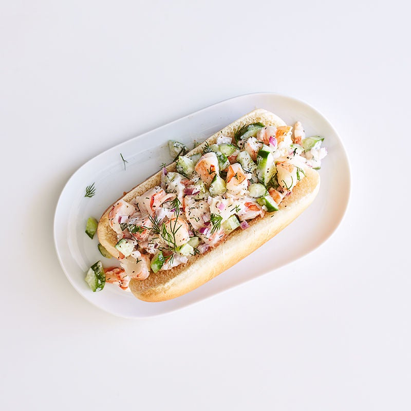 Photo of Shrimp salad sandwich with cucumber & dill by WW