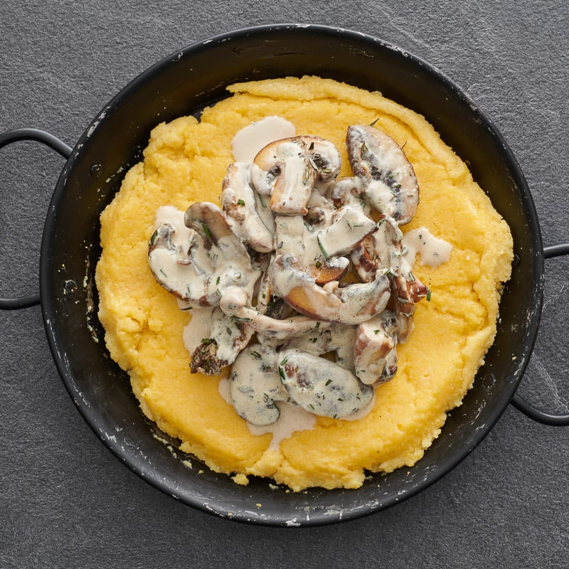 Photo of Wild mushrooms on polenta rounds by WW
