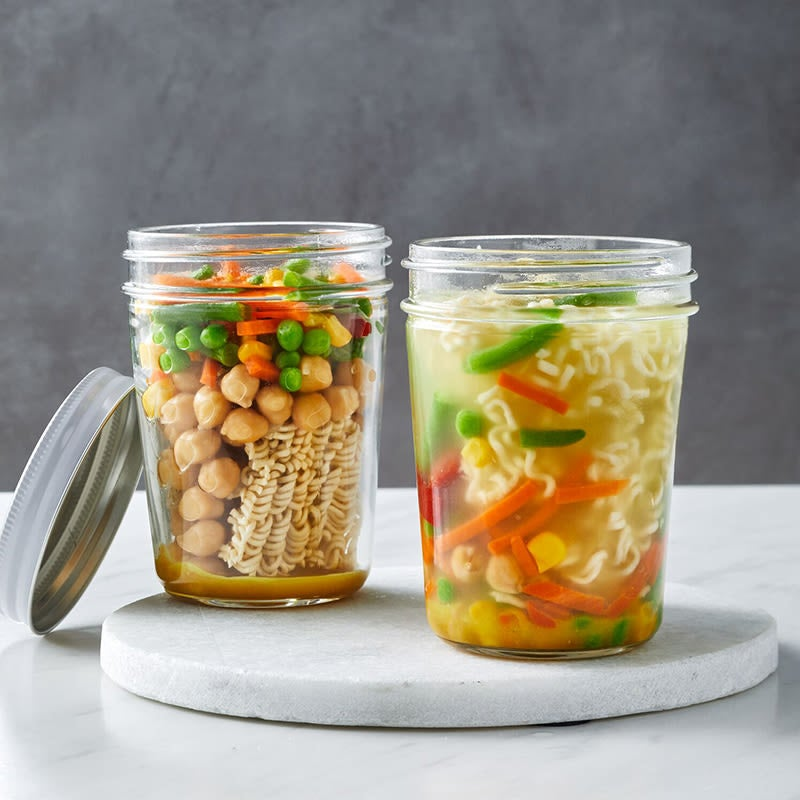 Photo of Mason jar chickpea & vegetable noodle soup by WW