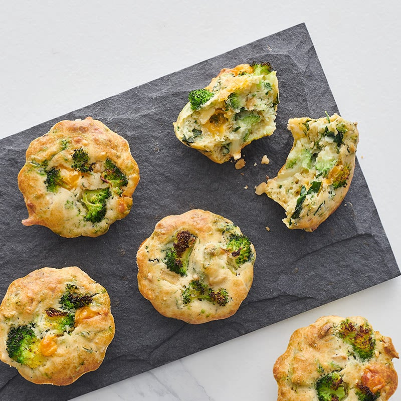 Photo of Cheddar Muffins with Spinach and Broccoli by WW