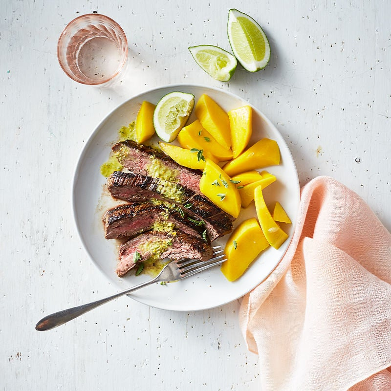 Photo of Cuban Flank Steak with Lime and Fresh Mango by WW