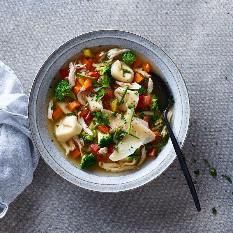 Photo of Chicken, broccoli & tortellini soup by WW