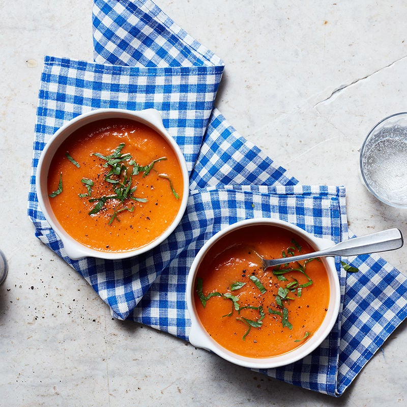 Photo of Roasted red pepper and pear soup by WW