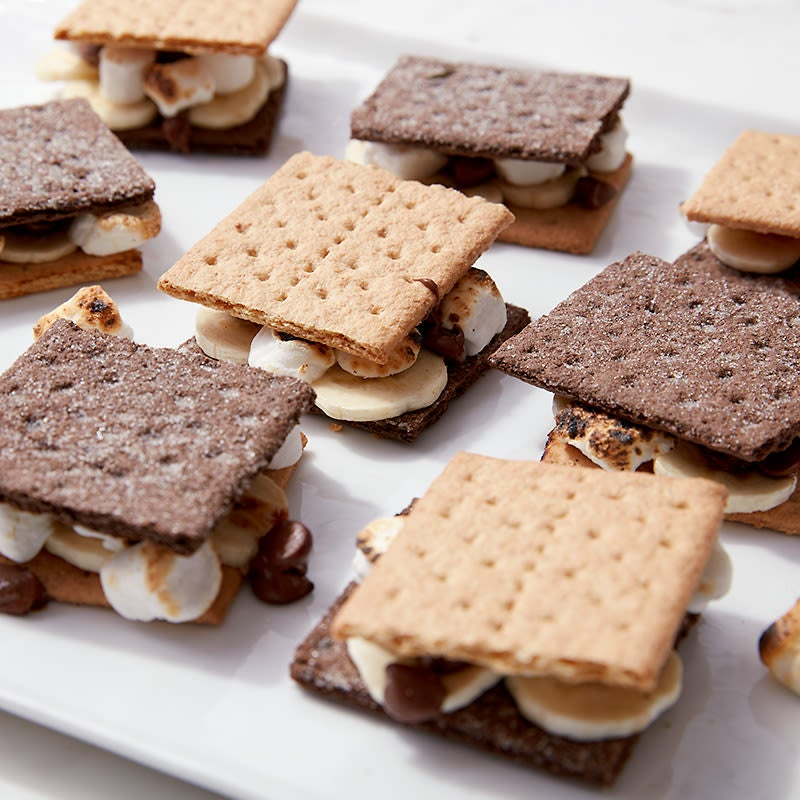 Photo of Cat Cora's banana two-tone s'mores by WW