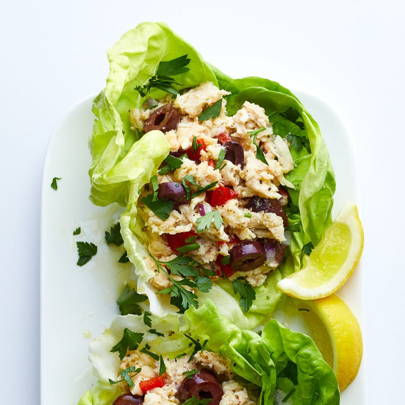 Photo of Mediterranean tuna salad lettuce wrap by WW