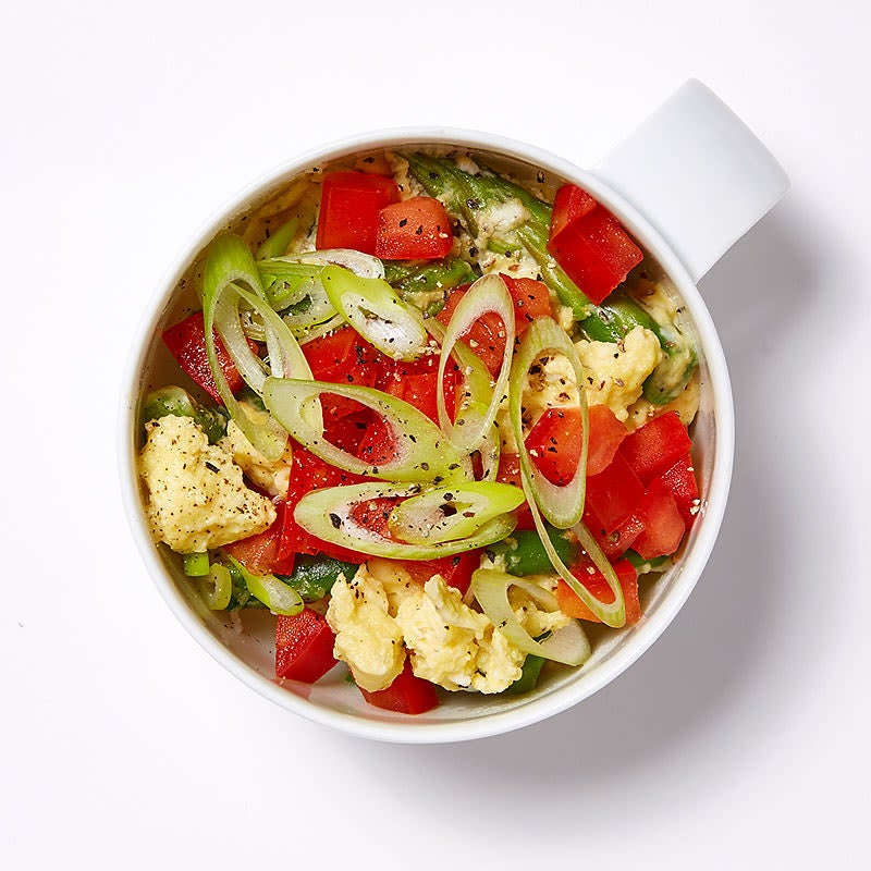 Photo of Spring veggie and egg coffee-cup scramble by WW