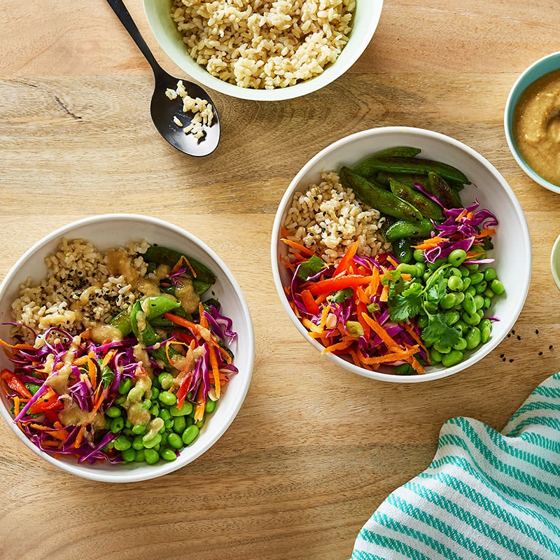 Photo of Veggie brown rice bowl with miso-ginger sauce by WW