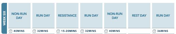 Week 6 10km run