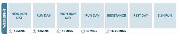 Week 8 10km run