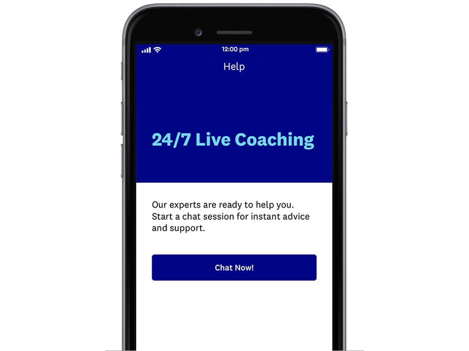 Live chat to a WW Coach