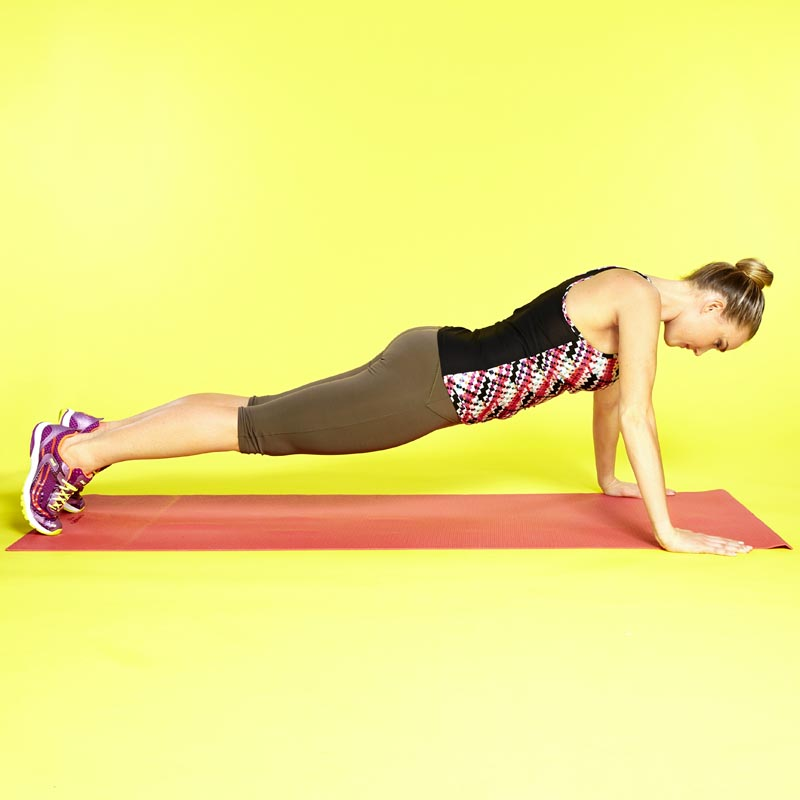 Push-up on toes