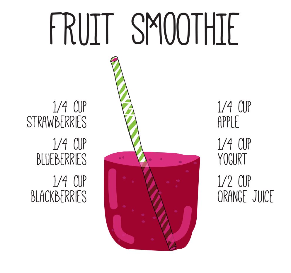 Fruit smoothie mix