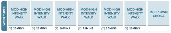 Week 3 Walking plan