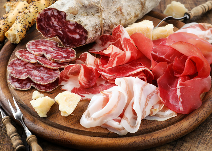 Plate of anitpasto