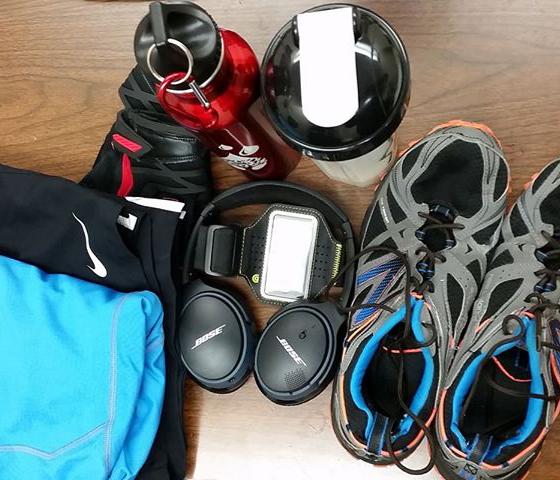 David's workout essentials