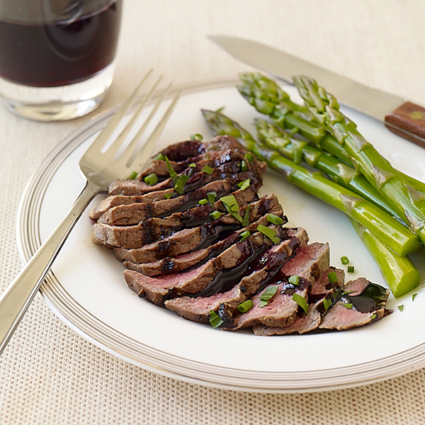 Filet Mignon with Red Wine Sauce