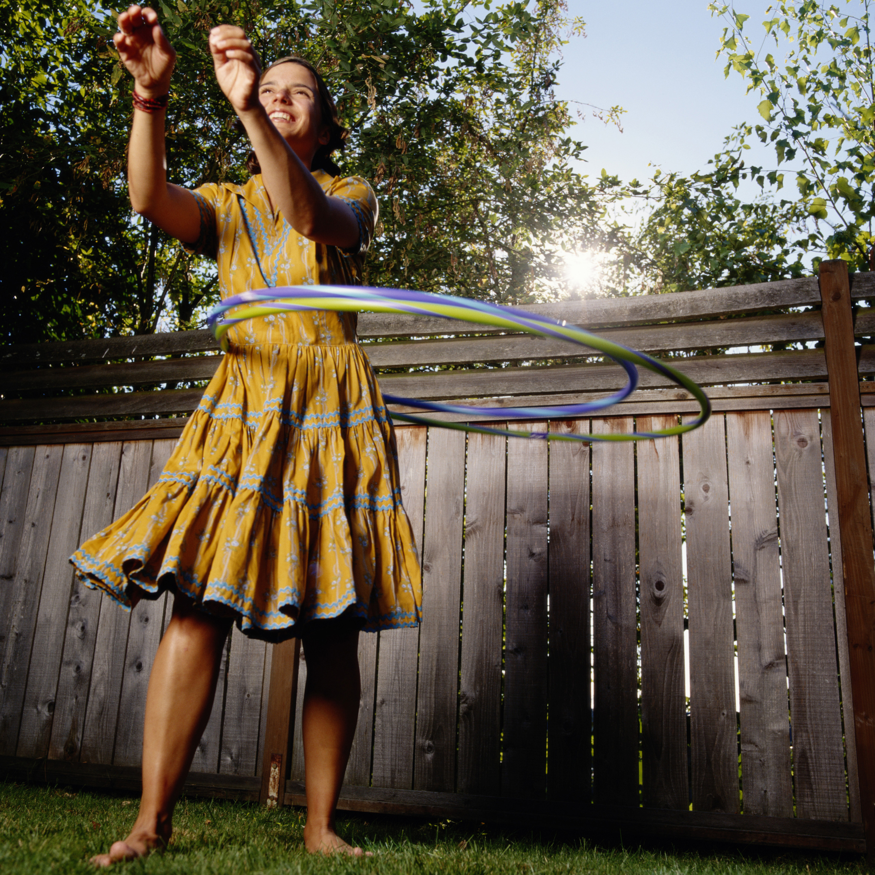 Abnehmen im Frühling - Hula Hoop