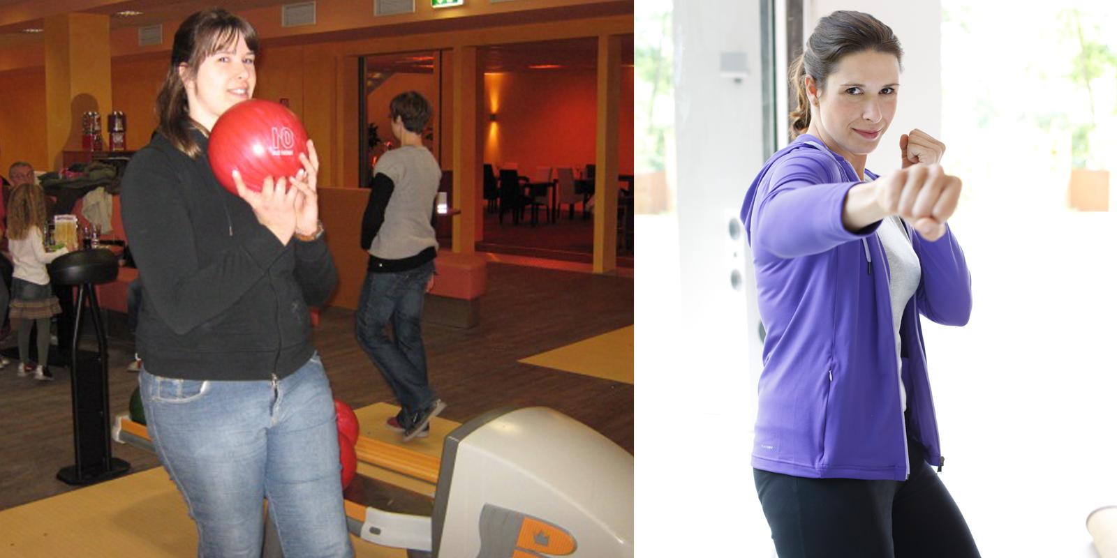 Britta vorher und nachher