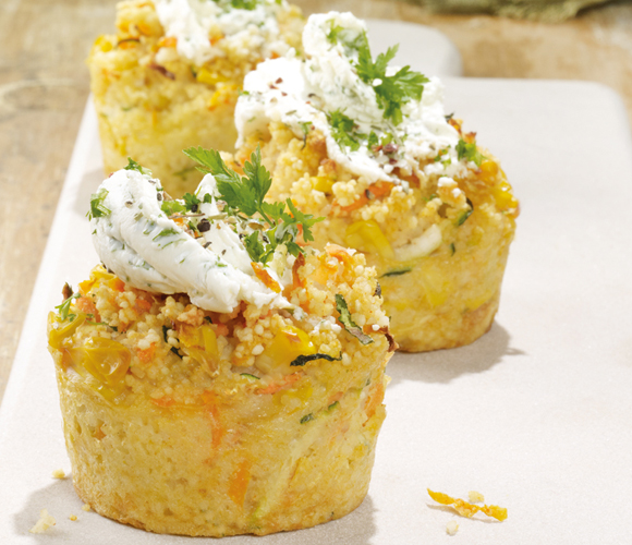 Couscous-Gemüse-Cupcakes