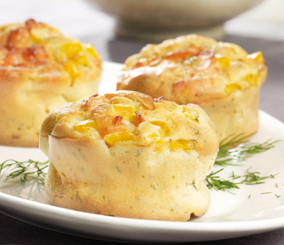 Lachs-Senf-Muffins mit Dill