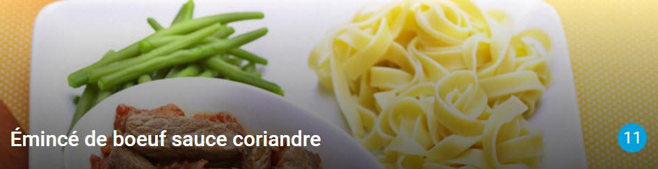 Émincé de boeuf sauce coriandre