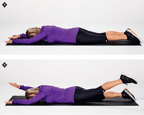 Alternate arm and leg lifts