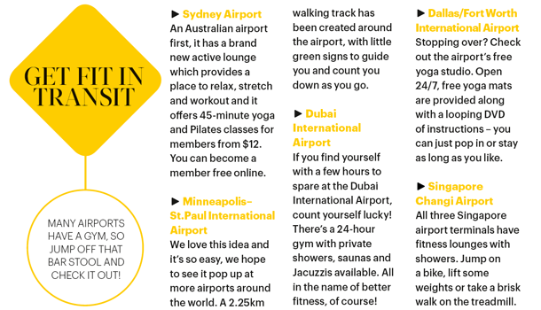 Exercise ideas for different airports