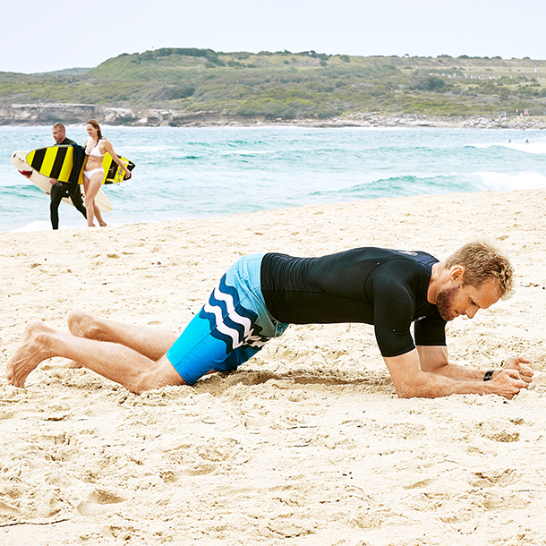 Plank shuffle