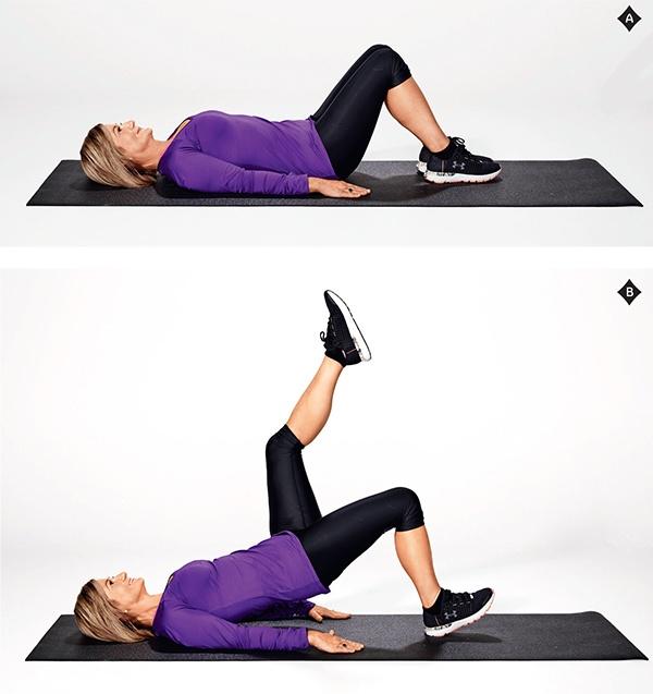 Single leg hip raises