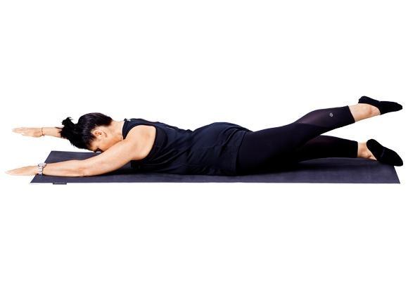 Pilates - swimming pose