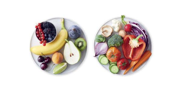 grön NollPointsmat frukt och grönsaker