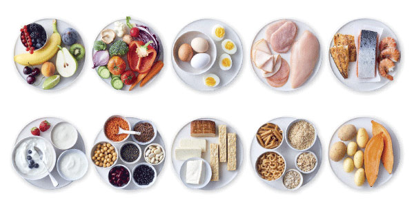 Lila NollPointsmat frukt, grönsaker,proteinrika livsmedel och fullkornsprodukter