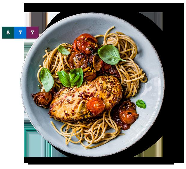 SmartPoints, balsamicokyckling med tomat