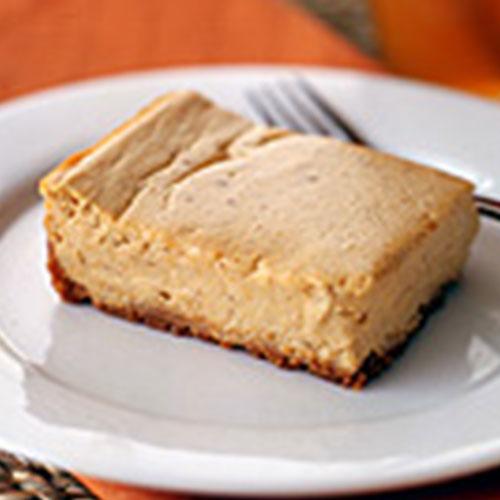 Pumpkin cheesecake slices
