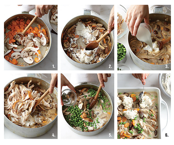 Healthy Chicken Pot Pie Recipe Steps