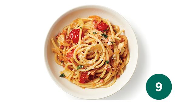 Weight Watchers myWW green pasta dinner SmartPoints
