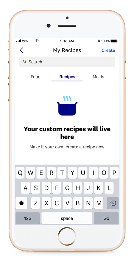 How to create recipes in Weight Watchers app