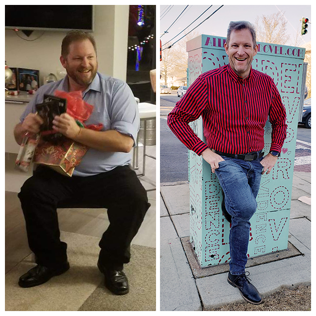 Picture: Before and After Losing Weight Man