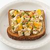 Open-Face Chopped Deviled Egg Sandwich