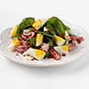 Spinach Salad with Egg, Blue Cheese & Bacon