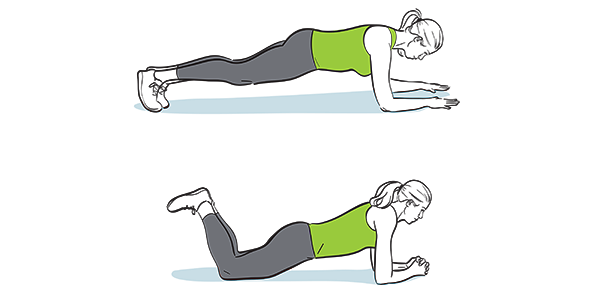 How to do a plank and modified plan