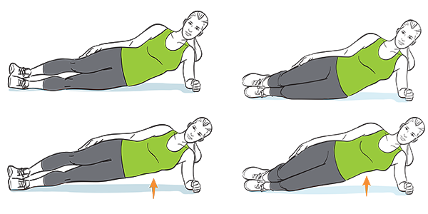 How to do a side plank with hip taps