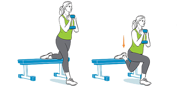 How to do an elevated split squat