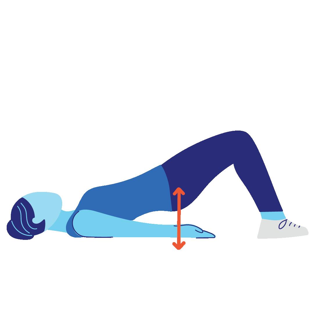 Brücke Po-Workout
