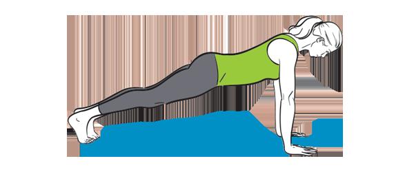 How to do a yoga plank