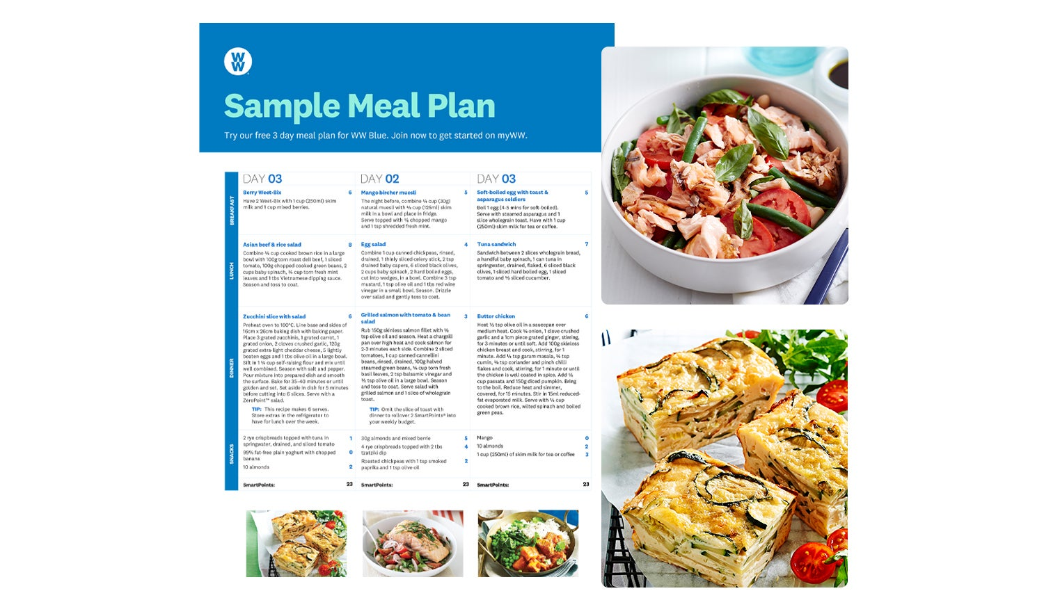 3 day WW meal plan