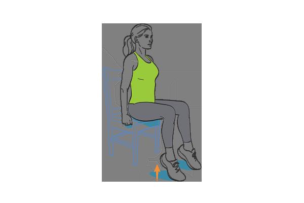 Seated heel raise