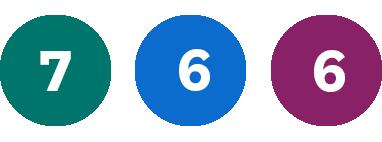 Grön 7, Blå 6, Lila 6